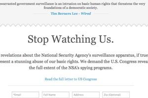 Сайты выступили против американской слежки.